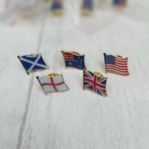 FLAG LAPEL PIN BADGE - Union Jack UK England Scotland Australia US
