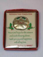 GANZ Pocket Redeem Token Charm LOVE Christmas Wishes Peace Hope Season God's Joy