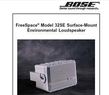 BOSE FREESPACE MODEL 32SE ENVIRONMENTAL LOUDSPEAKER SERVICE MANUAL BOOK ENGLISH
