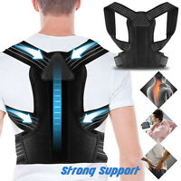 Posture Corrector Back Shoulder Support Brace Belt Therapy Adjustable Men Women
