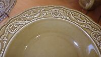 Vintage Ironstone Dinnerware set Regency Yellow Gold by CANONSBURG Pottery 1968