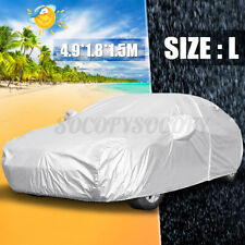 L Car Full Cover Waterproof Breathable UV Snow Dust Rain Resistant Protection US