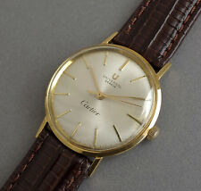 UNIVERSAL GENEVE RETAILED BY CARTIER 18K Solid Gold Vintage Gents Watch 1950's