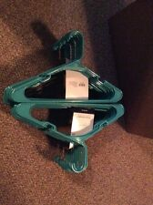 Lot 50 Mainstays Plastic Tubular Slotted Teal Adult Clothing Clothes Hangers
