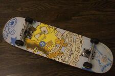 "2007 Viacom Spongebob Square Rebel Pants Water Pistols Back Off 28"" SkateBoard"