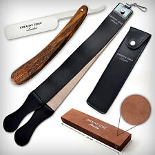 Barber Classico Dritto RASOI Wet Cut Throat STROP affilatura pietra SHAVE READY