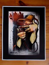 "Hookser :  ""  Feat The Maskedman  "" , Peinture Originale Signée , Graffiti  Art"