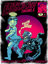 FAITH NO MORE silkscreened poster Chicago 2015 by Zombie Yeti