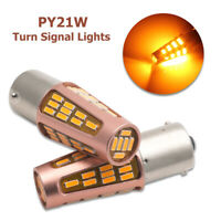 2x AMBER CREE LED P21W 1156 BA15S CANBUS ERROR FREE BRAKE LAMP REVERSE LIGHT