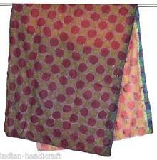 "10 Vintage Silk Designer Kantha Shawls 35""x70"" Hand quilted Pashmina SC24"
