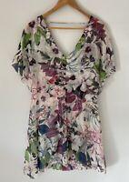 PHYLLIS & MIMOSA stunning Silk Floral dress Size 12