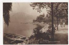 Montreux Quai de Bon Port & Grammont RP Postcard Switzerland 392a
