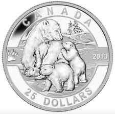 2013 $25 Fine Silver Coin - Polar Bear