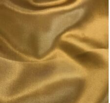 42 Inch wide Old Gold silk Charmeuse satin Fabric for Craft Decor Wedding dress