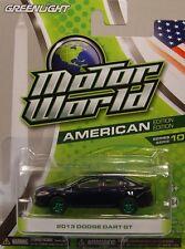 GREENLIGHT 1:64 SCALE DIECAST METAL DARK BLUE 2013 DODGE DART GT GREEN MACHINE