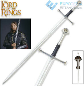 Anduril Sword of Aragorn Replica from LOTR With Display Wall Plaque