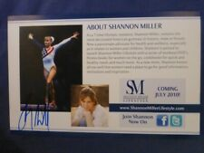 Shannon Miller Signed 5 x 8.5 Color Card with COA