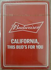 New listing Budweiser playing cards New Rare design.