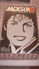 "MICHAEL JACKSON VICTORY TOUR ORIGINAL 20""X13"" POSTER CARDBOARD NO PROMO BAD CD"