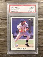 1990 Leaf Sammy Sosa Rookie PSA 9 MINT #220 RC Chicago Cubs