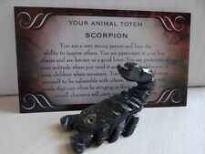 *SCORPION* Scorpio Carved Stone Figurine Totem (1) FREE Bonus LOOK Wiccan Pagan