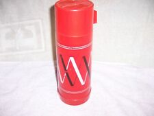 ALADDLIN QUALITY THERMOS 1 QUART RED, WHITE & BLACK