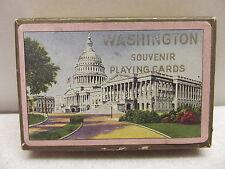 VINTAGE WASHINGTON SOUVENIR PLAYING CARDS NICE JOKERS