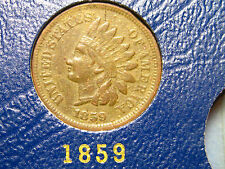 1859 Indian Head Cent                    SCARCE                            (5th)
