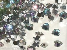 10pc Sparkly Vitrail rainbow Swarovski Heart Crystals wholesale flat gem 5x5.5mm