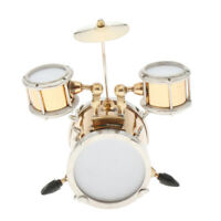 Dollhouse Miniature Metal Drum Set for 1:12 Scale Doll Percussion Instrument