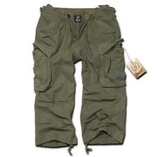 BRANDIT INDUSTRY OLIVE GREEN 3/4 SHORTS COMBAT CARGO ARMY MILITARY