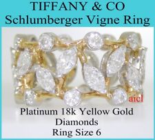 TIFFANY & CO SCHLUMBERGER PLAT 18k YELLOW GOLD VIGNE RING ~ 2.65ct  RING SIZE 6