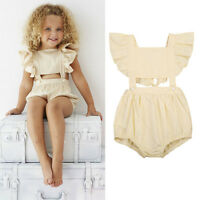 New Summer Toddler Baby Girl Kid Outfit Bodysuit Romper Jumpsuit Sunsuit Clothes
