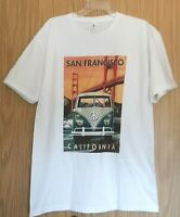 New XL kool Graphics SAN FRANCISCO Golden Gate w/vtg Volkswagen Van Tee Shirt