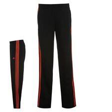 Niños 7-8 años Adidas Negro/Rojo 3 Rayas Color Jog Pantalones Pantalón Gimnasio Correr