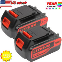 FOR BLACK+DECKER 20V MAX LITHIUM LB2X4020-OPE LBXR20 LCS1620 LCS20 BATTERY 2Pack