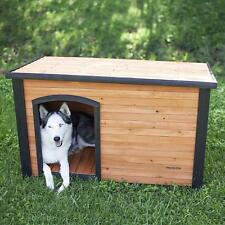 Weather Resistant Doghouse Cabin Style Season Puppy Shelter Den Enclosure House