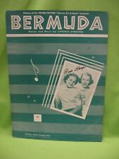 "VINTAGE ""BERMUDA"" SHEET MUSIC by CYNTHIA STROTHER - 1951 - VG COND."