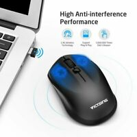 Wireless Optical Mouse Adjustable DPI Cordless Mice +USB Receiver for Laptop hot