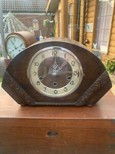 Vintage Art Deco Mantle Clock Westminster Chimes 8 Day,1930s..