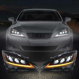 VLAND Pair LED Projector Headlights For 2006-2012 Lexus IS 250 IS 350 & ISF New