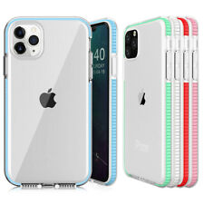 For iPhone 11 Pro Max 11 Luxury Transparent Shockproof Rubber Bumper Case Cover