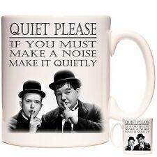 LAUREL AND HARDY QUOTATION MUG. Quiet Please ... Dishwasher safe