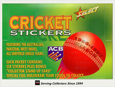 1996-97 Select Cricket Stickers Factory Box (50 packs) + Album