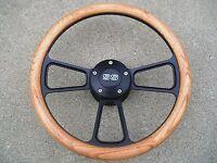 Chevy Camaro 1969 - 1994 Oak & Black Billet Steering Wheel, SS Horn & Adapter