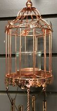 Birdcage Windchime Rose Gold Lantern Tea light Holder Fountasia