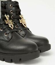 Disney Minnie Mouse Girls  Women Black Lace Up Biker Boots UK Size 3 EUR 36