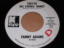 Fanny Adams: They're All Losers, Honey / Got To Get A Message To You 45 - Psych