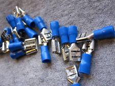 US.Seller Blue Crimp Wire Connectors Terminal 6.3mm Female 12PCS