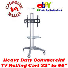"TV mobile rolling cart stand 32"" - 65"" LED 3D LCD PLASMA 37 40 42 47 50 52 55 60"